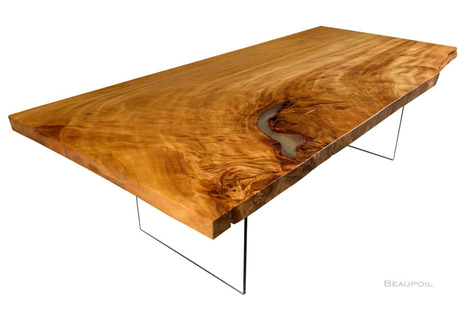 Modern designer conference table with glass pedestal from a large Kauri root, luxury ancient kauri wood designer conference table from a large trunk, exclusiv luxury designer wood dining and confernce tables