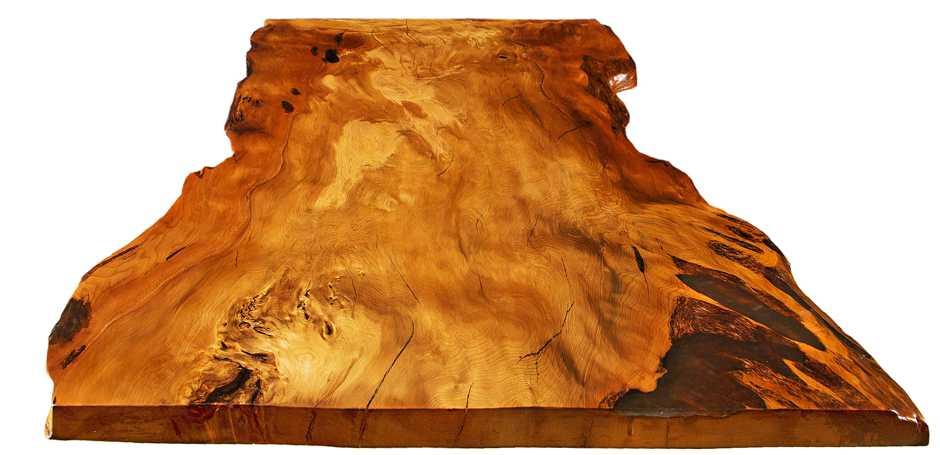 Natürliche massive Baumstamm Tischplatte, exklusiver Kauri Esstisch, Holztisch mit Naturkanten, Einzeltisch aus unverwechselbarem Kauri Holz, urwüchsige Unikat Tischplatte