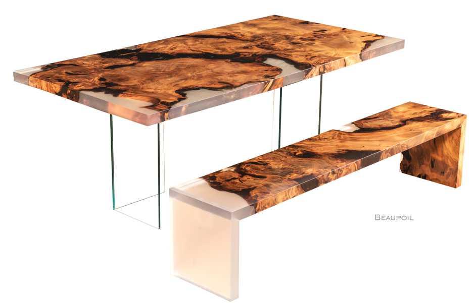 Exklusive Designmöbel, Wertanlage, einmaliger Designertisch Kauri Wurzelholz, individuelles Möbeldesign Holztisch, limitiertes Luxus Unikat, kunstvolle Natur Designermöbel, luxuriöses Möbeldesign
