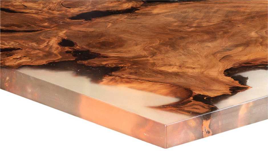 Wertvoller Kauri Designertisch, natürlicher Esstisch, ursprünglicher Wurzel Holztisch, exklusiver Designtisch, moderner Holztische Naturdesign