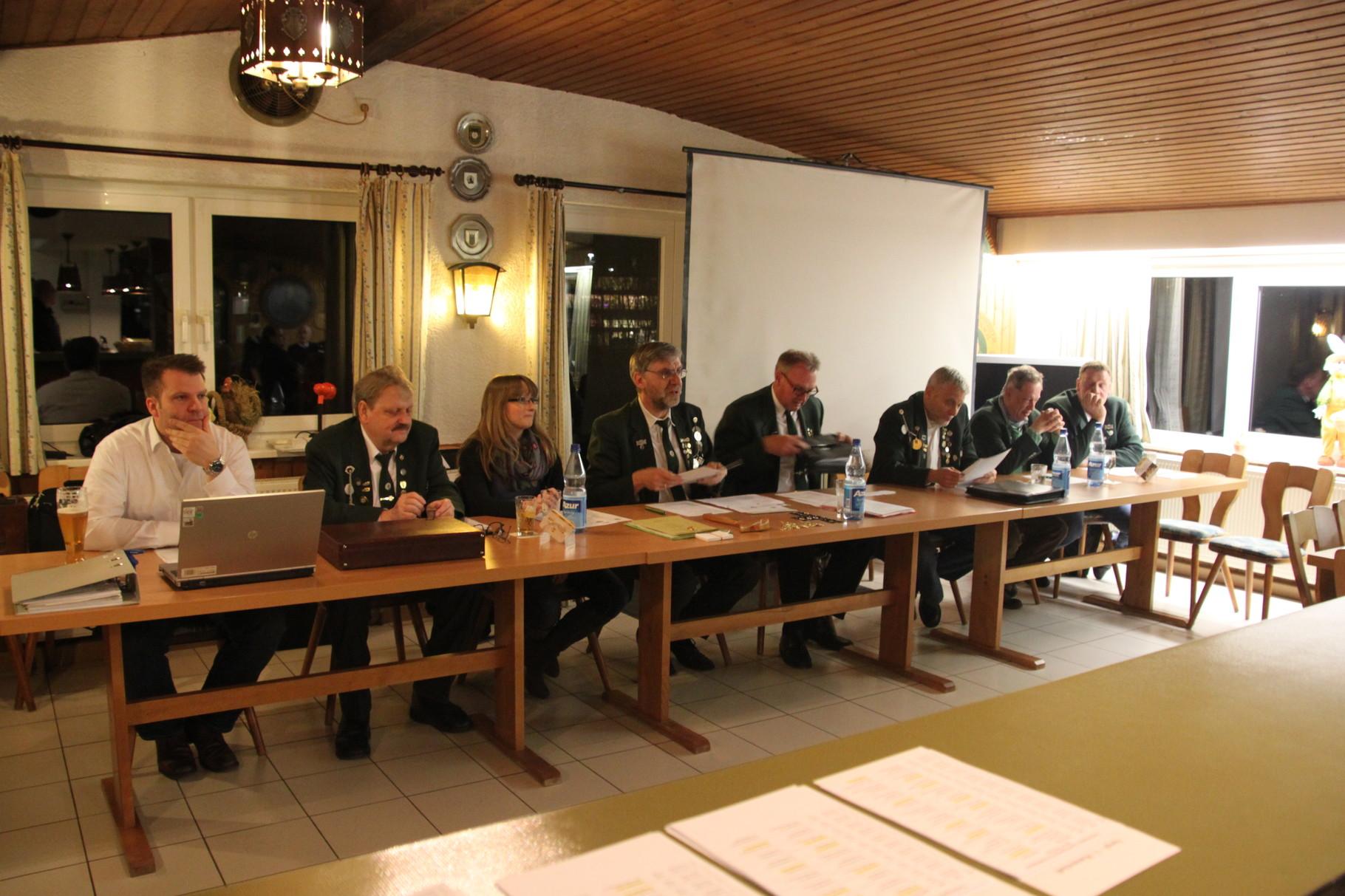Der Vorstand unter der Leitung unseres Oberschützenmeisters Lothar Strobl