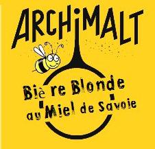 Bière blonde au miel de Savoie de la brasserie Archimalt