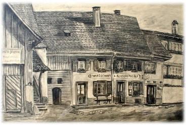 Altes Foto vom Kluserstübli in Aesch
