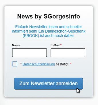 Newsletter anmelden - Steffen Gorges | SGorges.info - Internetdienst | Online-Marketing, Homepage, Webdesign, KMU Beratung Salzwedel