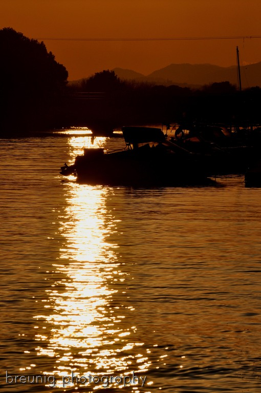 sunset at albufera canal