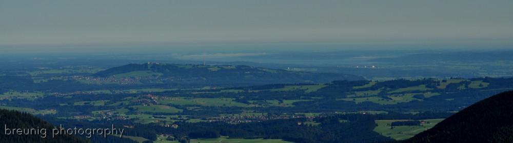 ammergauer alps: hennenkopf - view to hohenpeissenberg