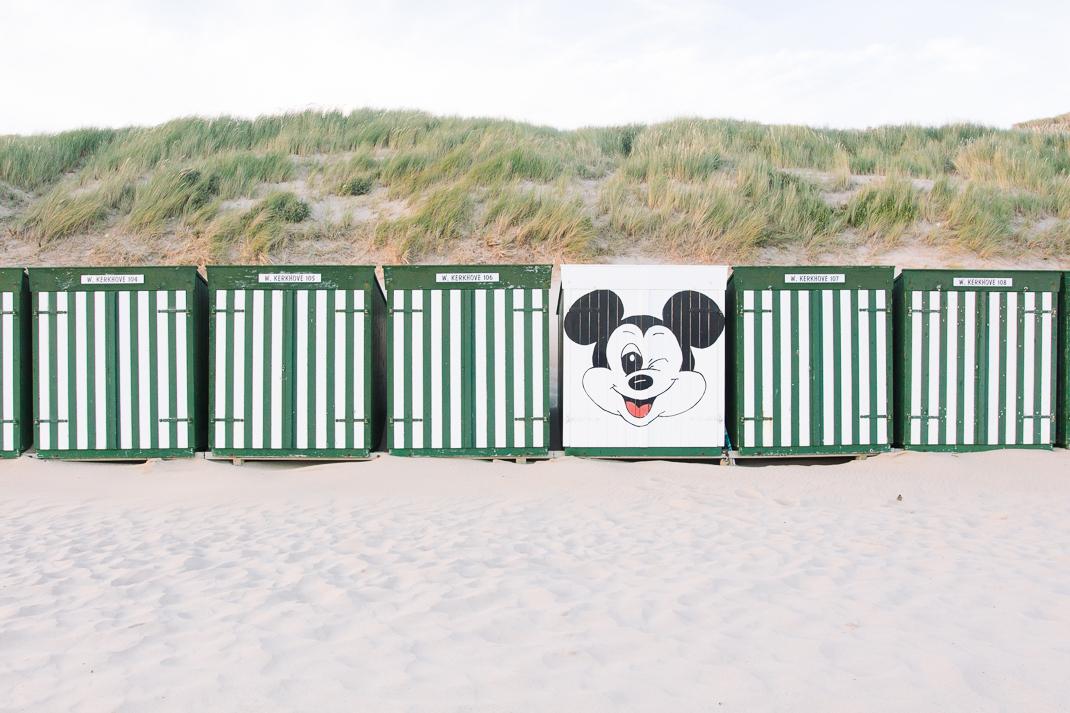 Zoutelande, Strandhäuser, Mickey Mouse, Strand, Sand