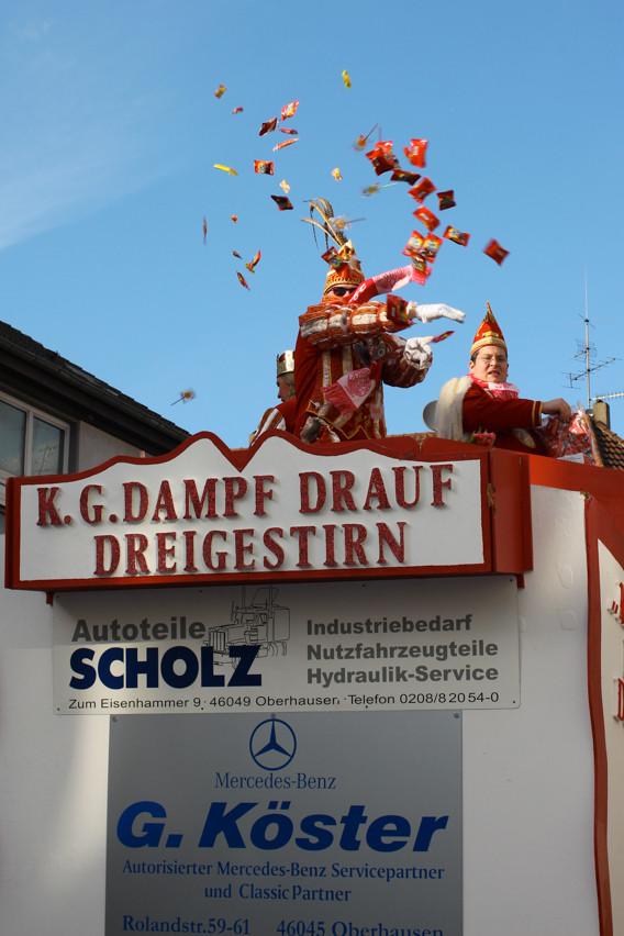 Karneval in Oberhausen KG Dampf Drauf Dreigestirn