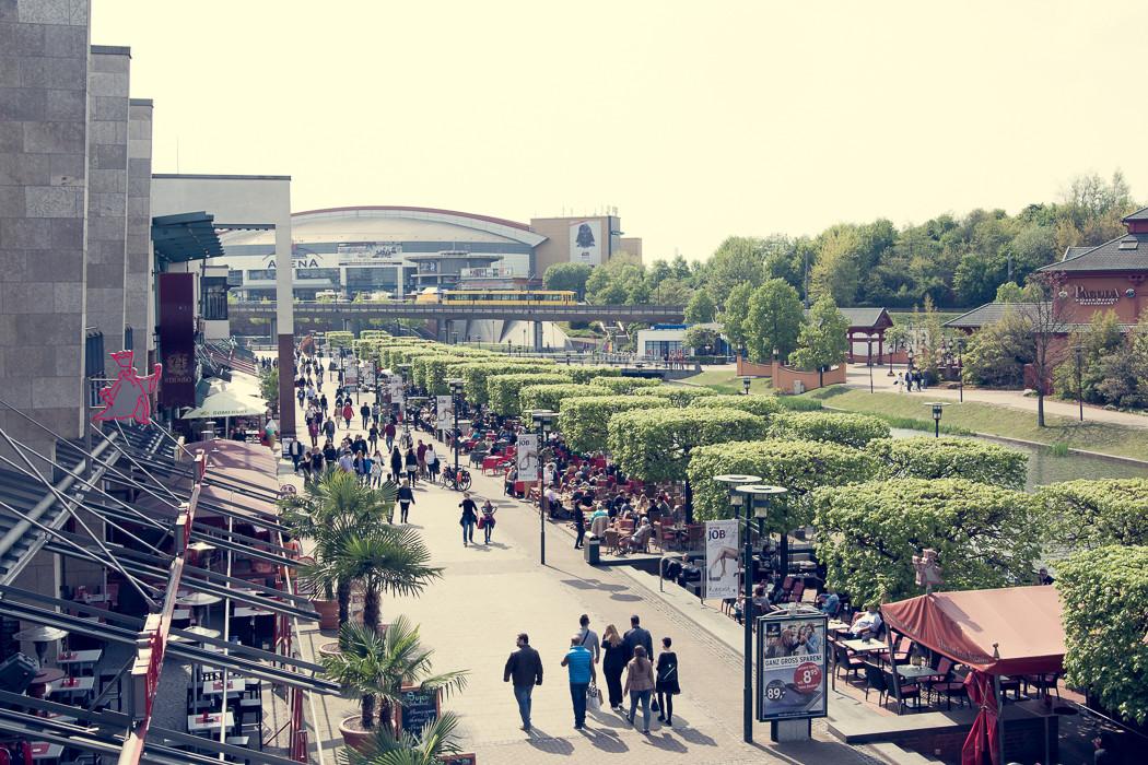 Centro Promenade. Hier wurde früher Stahl gekocht.