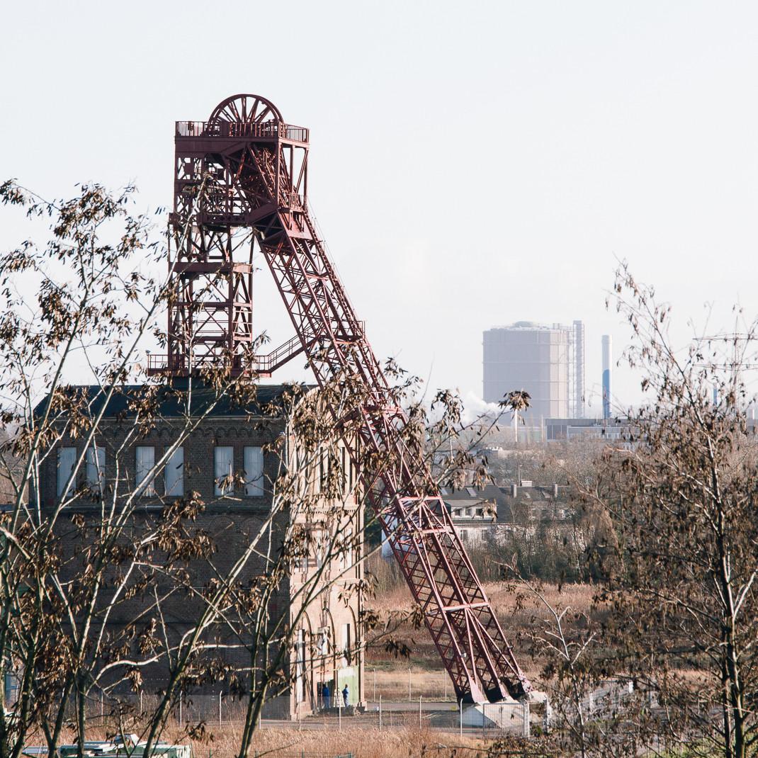 Zeche Sterkrade und Gasometer Oberhausen