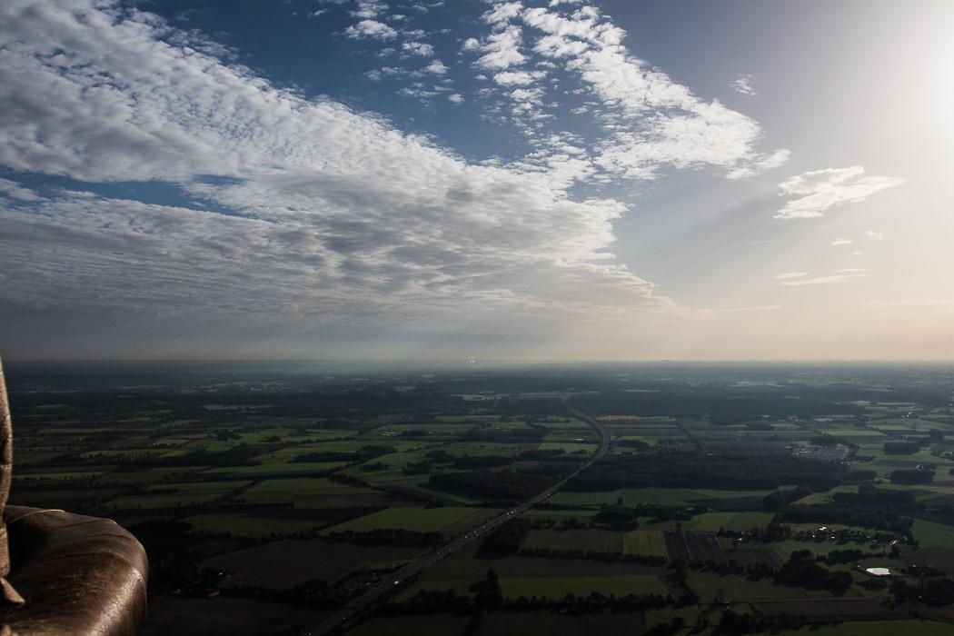 Mit dem Heißluftballon vom Niederrhein nach Westfalen, A31
