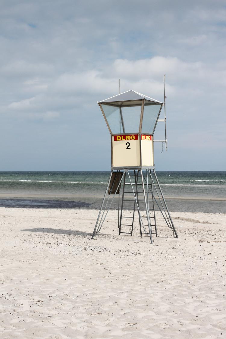 DLRG Wachturm in Grömitz, Ostsee