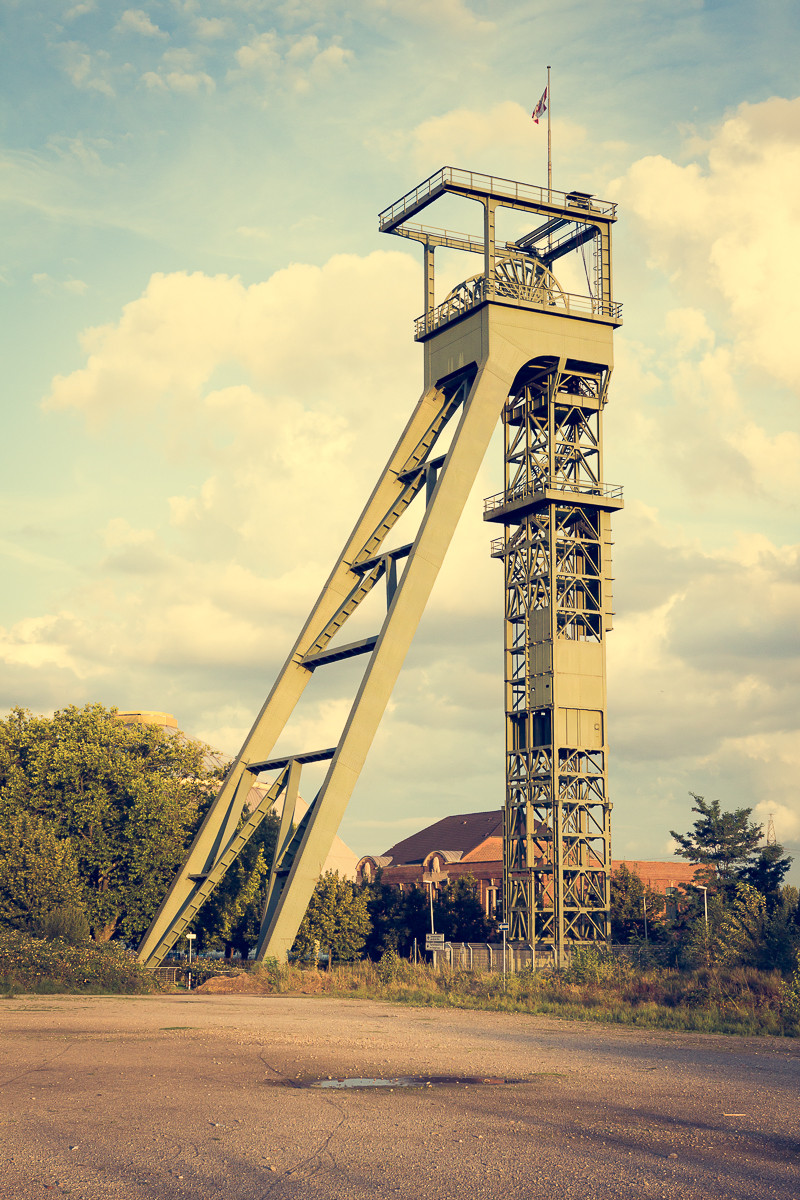 Zeche Osterfeld, Oberhausen. Förderturm Schacht Paul Reusch
