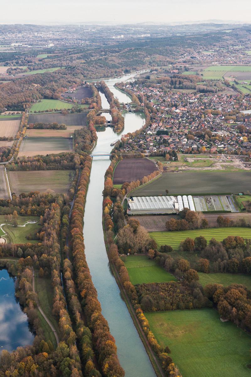 Dortmund Ems Kanal und Mitttelland Kanal. Nasses Dreieck.