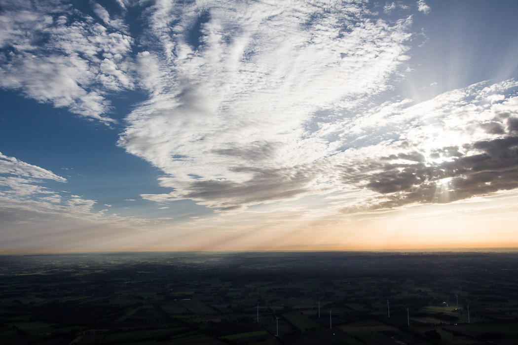 Mit dem Heißluftballon vom Niederrhein nach Westfalen