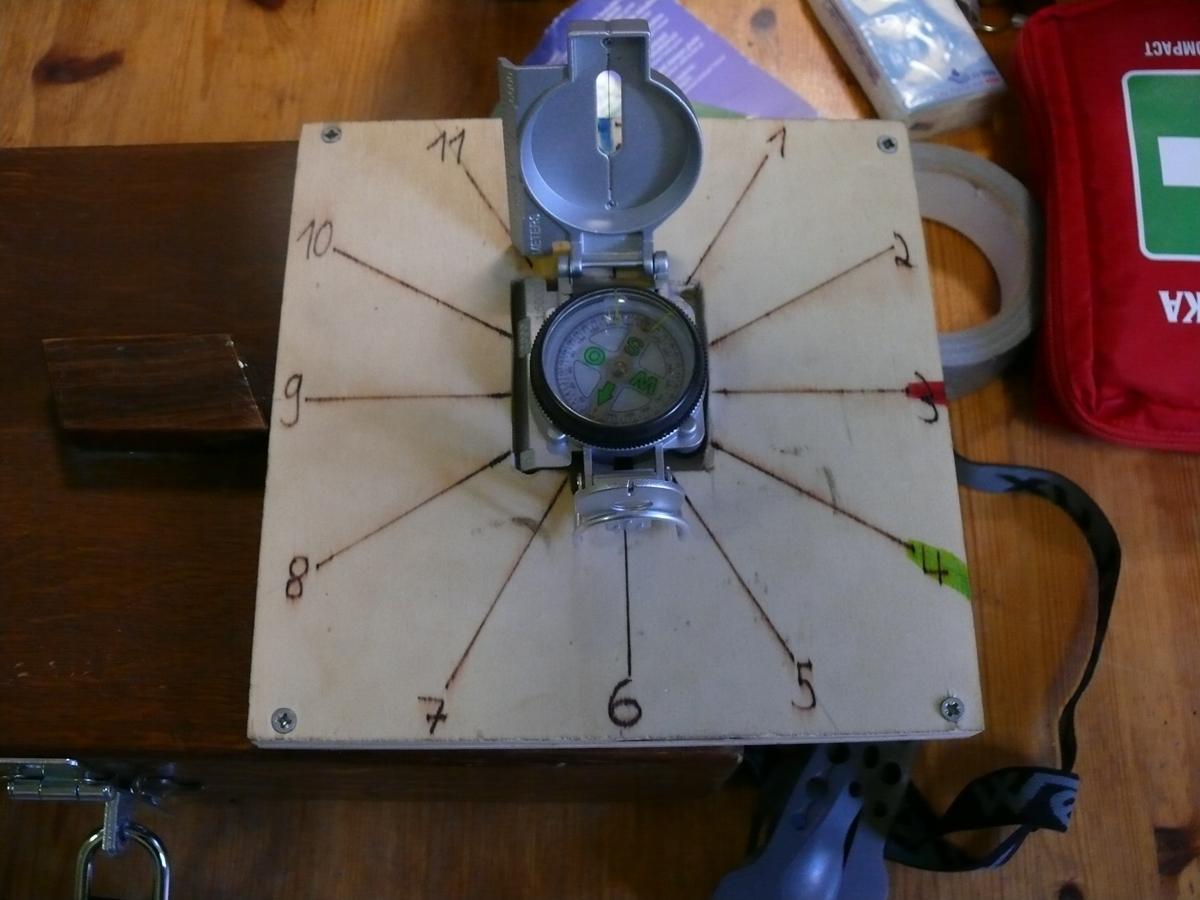 Eine besondere Herausforderung war es, den Kompass richtig zu bedienen