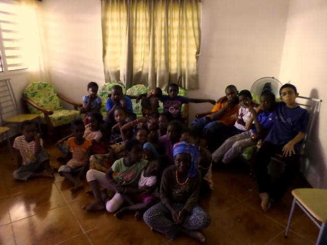 Niños a la escuela dominical