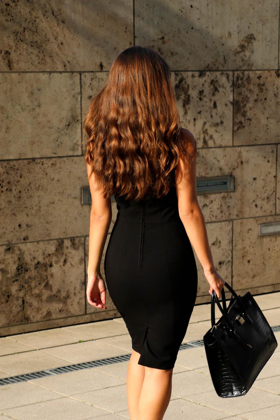 by Carmen Schubert Modeblog orsay schwarzes Etuikleid business dress