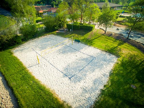 Unser Beachvolleyballplatz