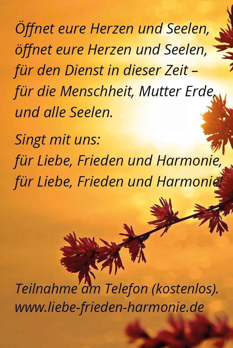 August Liebe Frieden Harmonie Lied