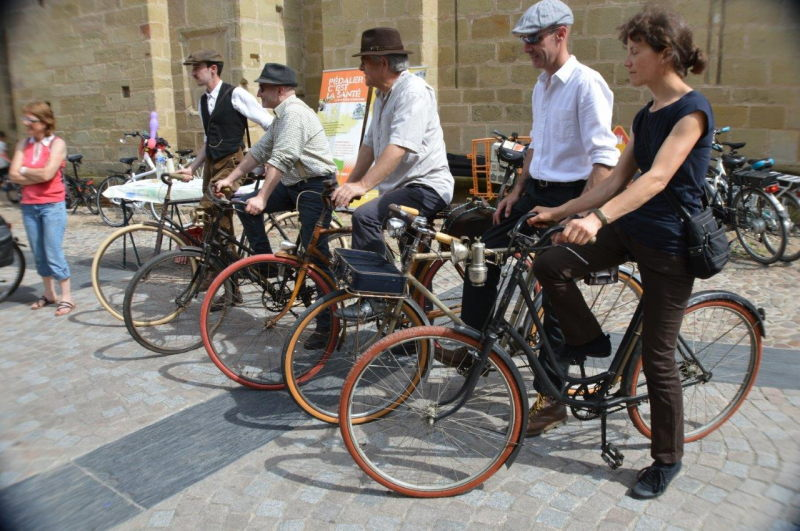 Groupe de vélos vintage