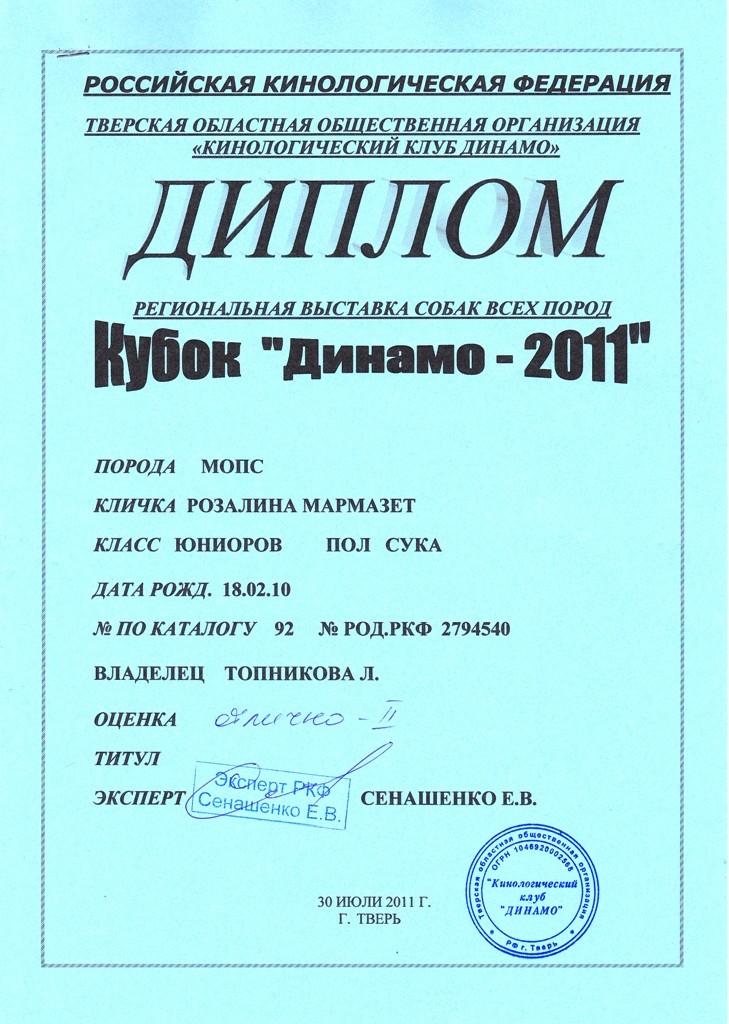 """30.07.2011.кл.юниор,""""Отлично - II"""", экс.Сенашенко Е.В."""