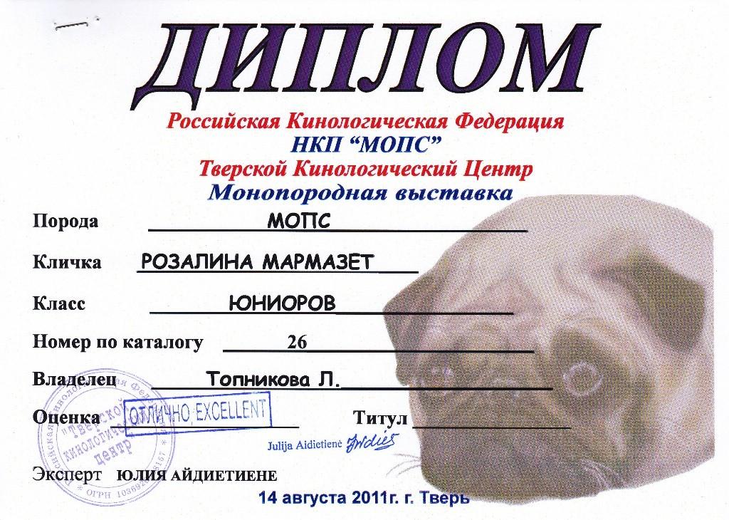 """14.08.2011.моно.кл.юниоров. """"Отлично"""", экс. Юлия Айдиетиене"""