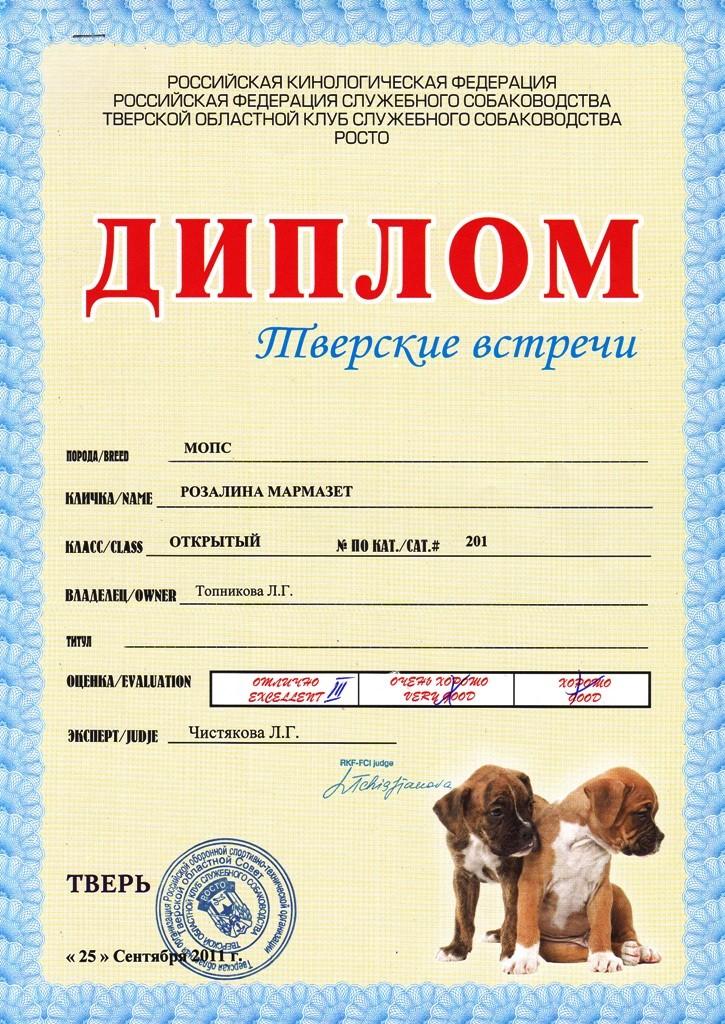 """25.09.2011.моно.кл.открытый, """"Отлично"""", СС, экс. Левшова Е.А."""