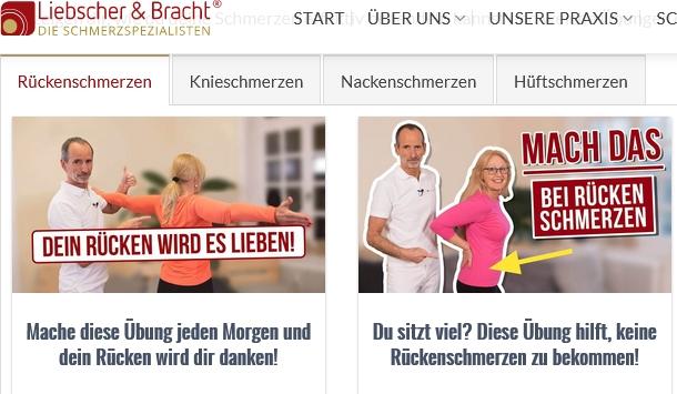 Screenshot aus Homepage von Liebscher-bracht.com 01.09.2019