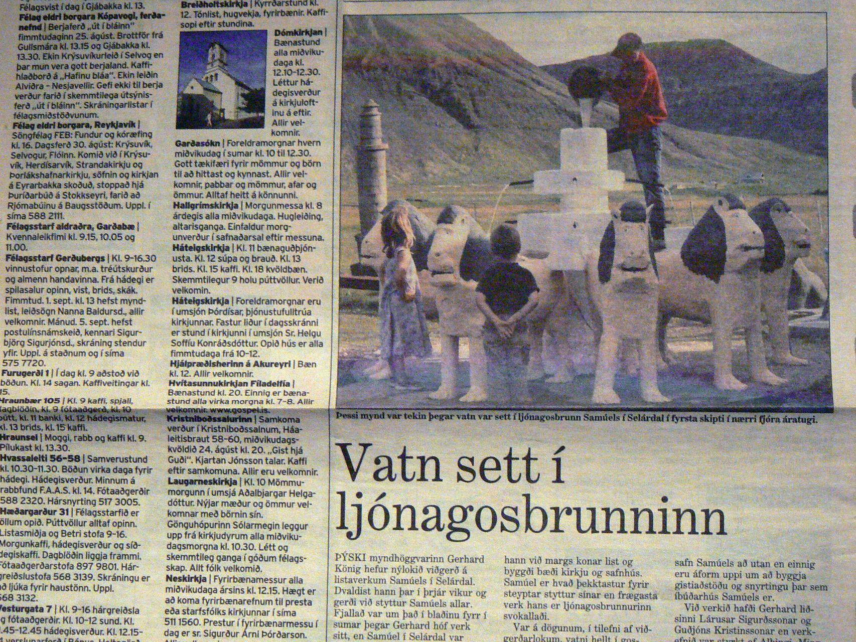 Article in DV og Mbl 24.8. 2005. The first water run with Gerhard König.