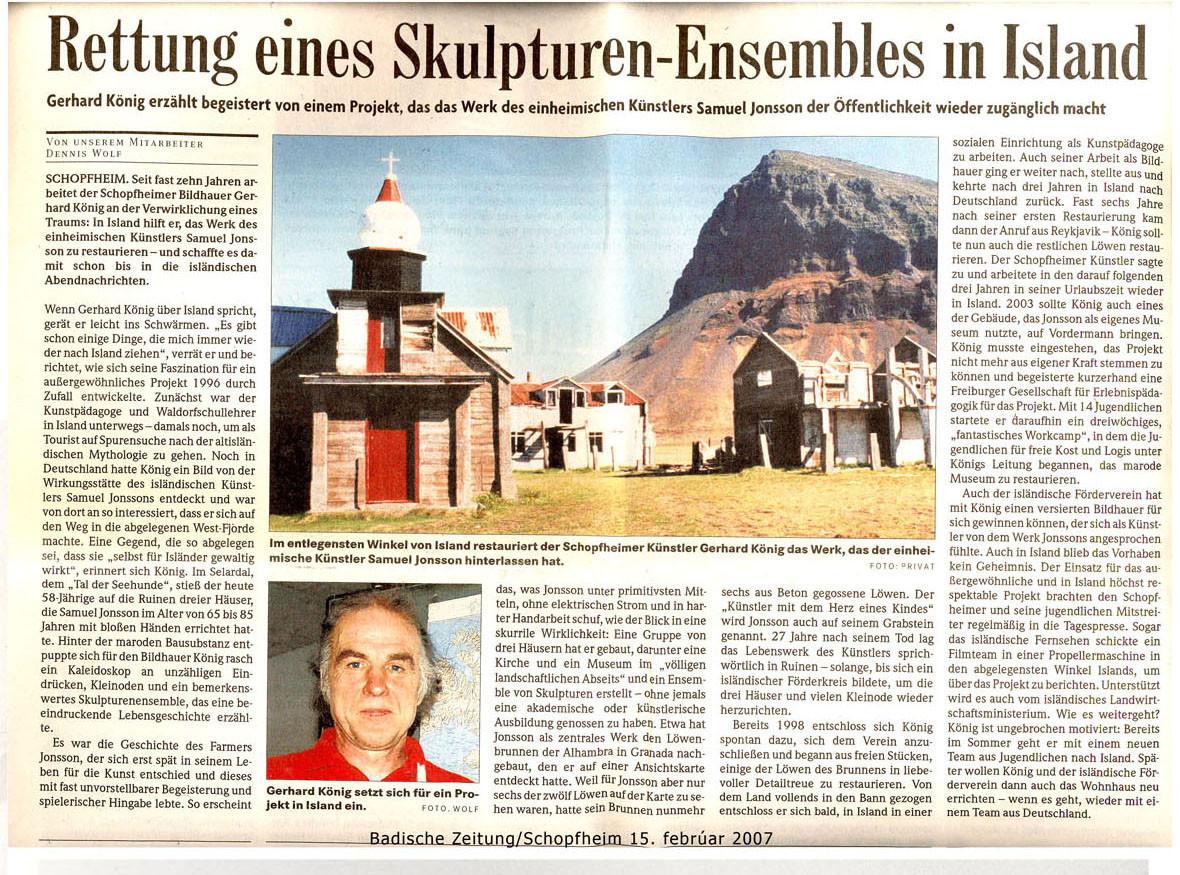 Badische Zeitung 2007  by MarliesJung-Knoblich