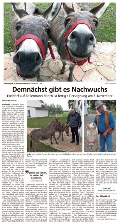Ulf buschmann besucht Annette u. André Engelhardt auf der Ballermann Ranch