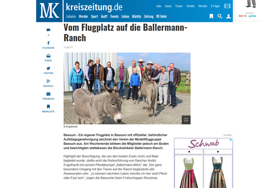 Kreiszeitung - Red. Bassum/Twistringen - Ballermann Ranch