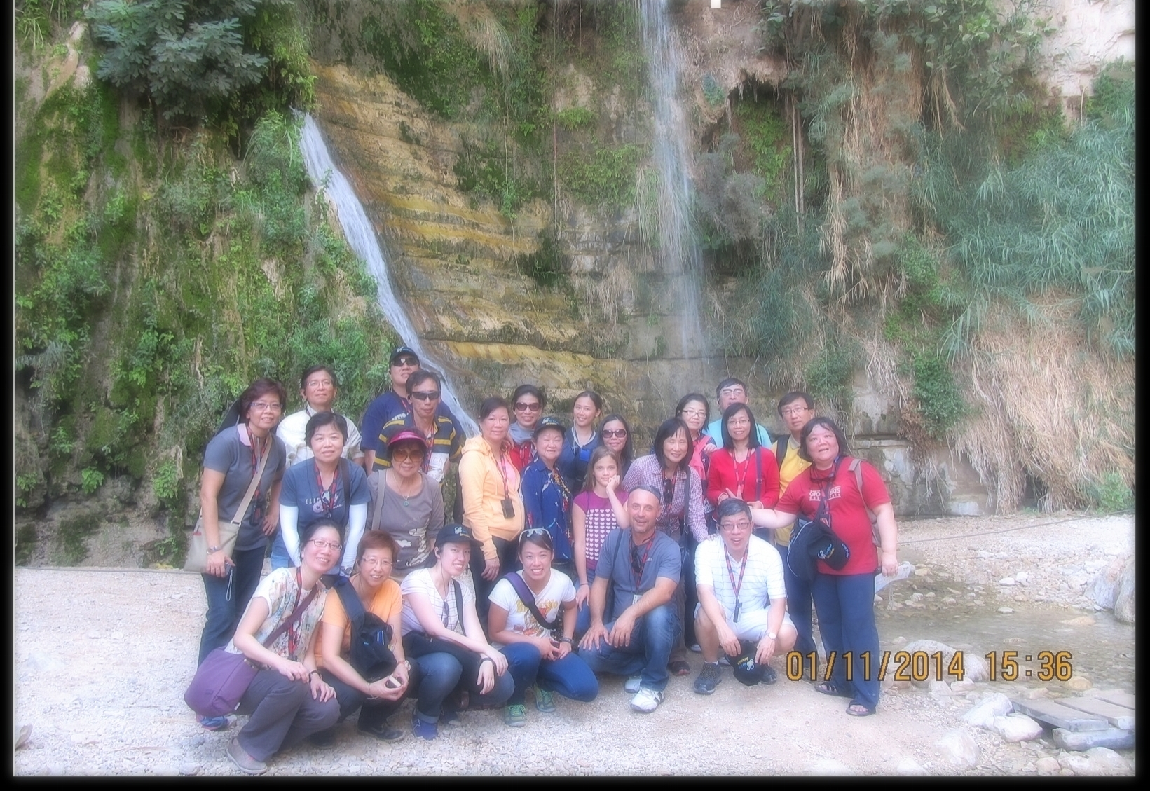 With the Singapore group at  Ein Gedi, 2016