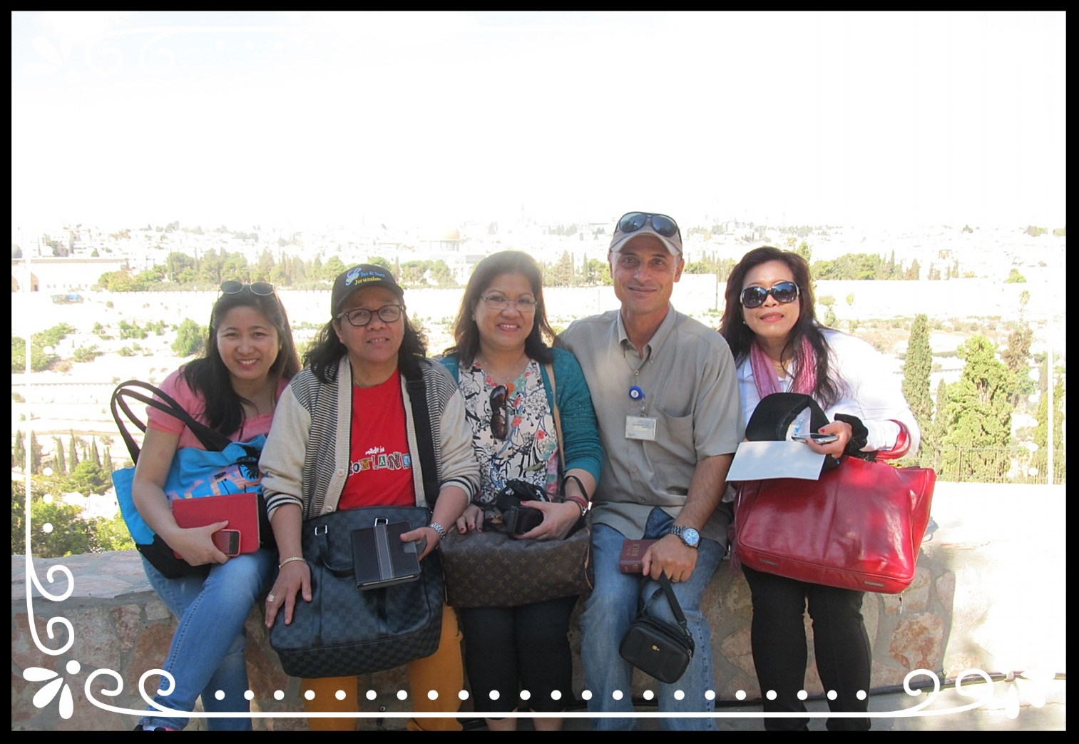 With the Filipino tourists in Jerusalem