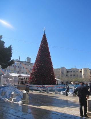центральная площадь Вифлеема в Рождество 2013