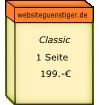 Box mit Preis für 1 Webseite von Computerulm