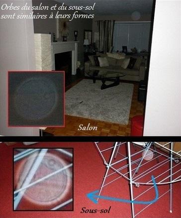 L'orbe dans le salon ressemble à l'orbe dans le sous-sol