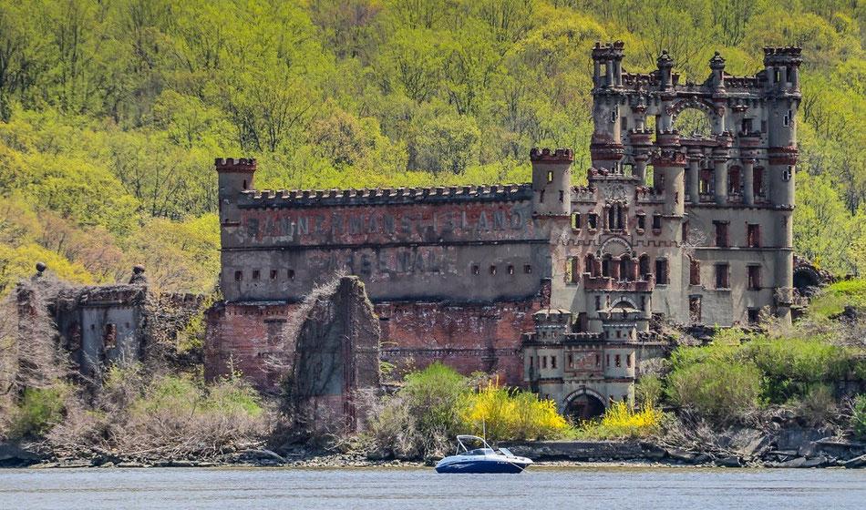 Le château de Bannerman a été bâtit sur une île