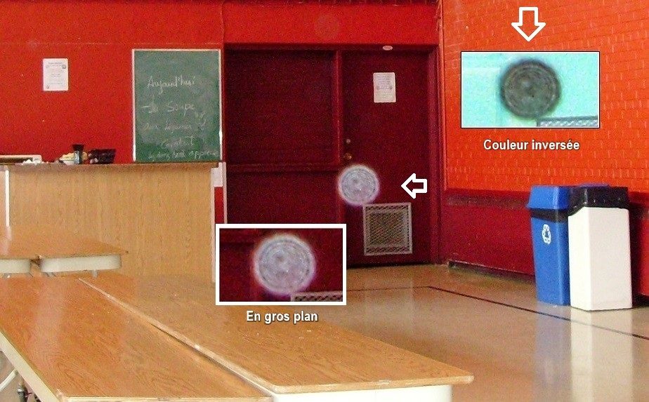 Un orbe dans une école
