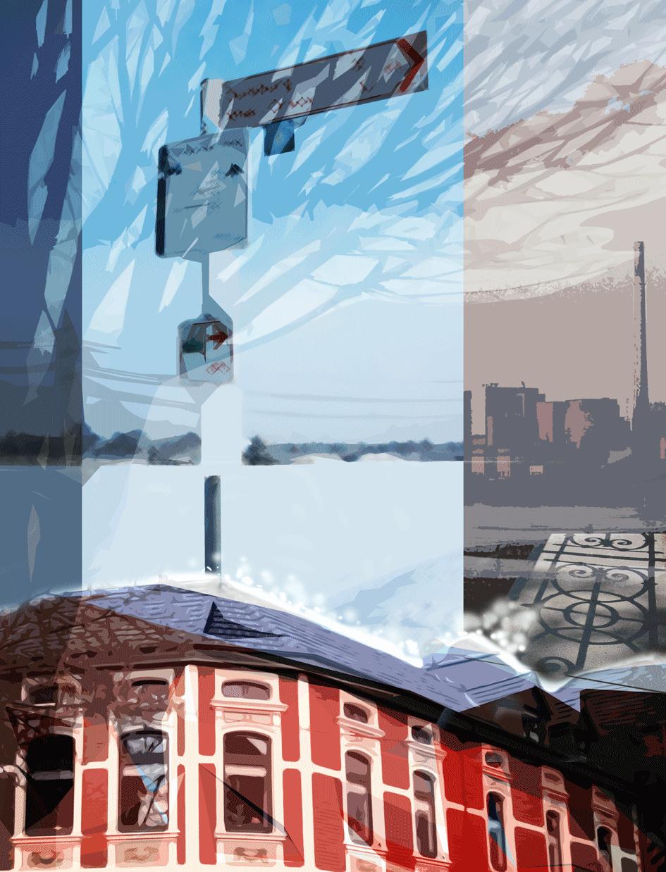winterbild / digitale Malerei