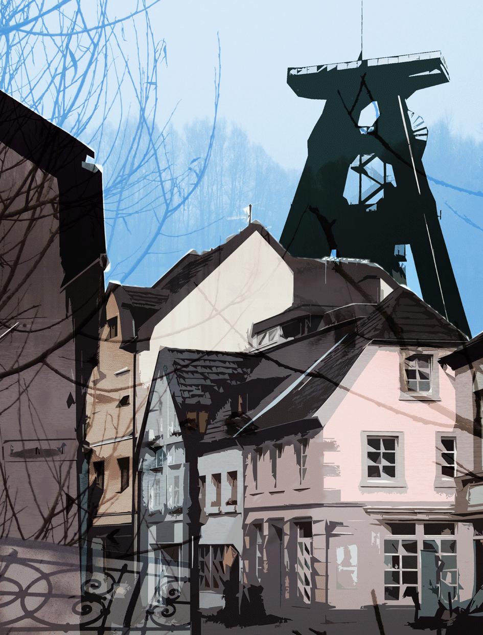 stadtstraßen / digitale Malerei