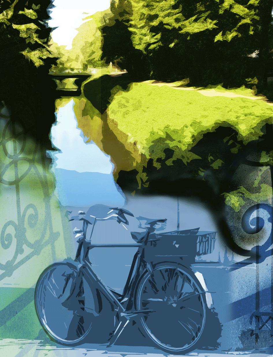 grünes unterwegs / digitale Malerei