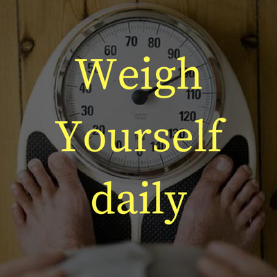 average weekly body weight for monitoring weight loss progress