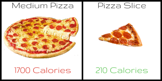 "It may seem obvious but getting a single slice instead of a whole ""personal"" pizza can make a huge difference."