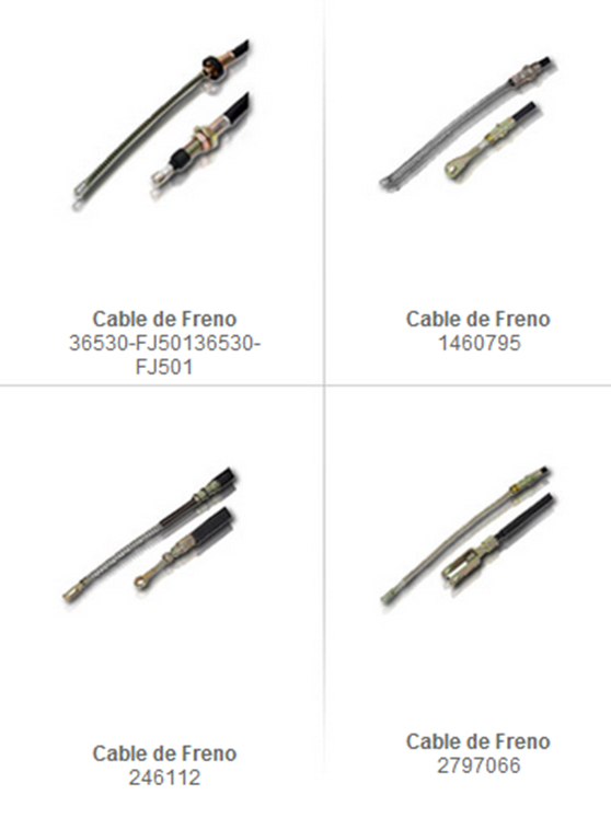 cables freno montacarga accesorio partes refacciones accesorios montacargas mexico partes