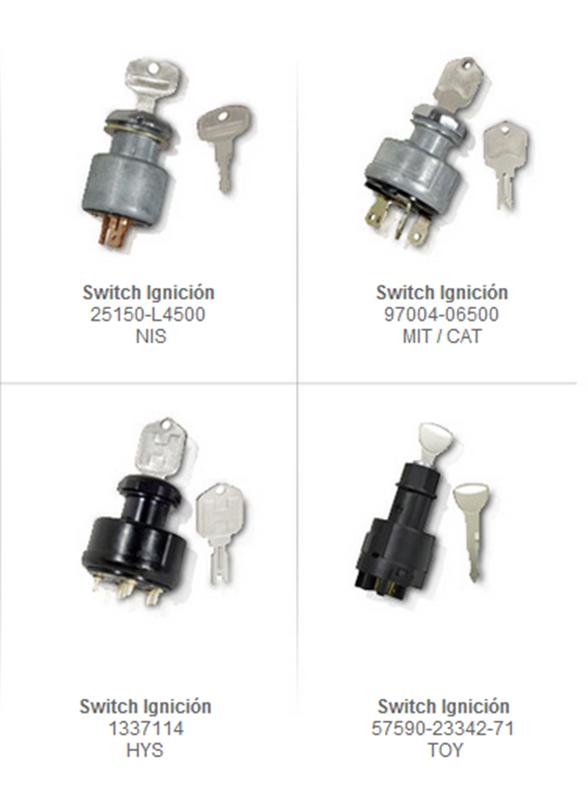 interruptor de encendido switch switches ignicion partes refacciones montacargas mexico