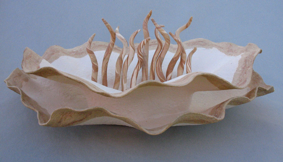 Coral Bowl with Tendrils