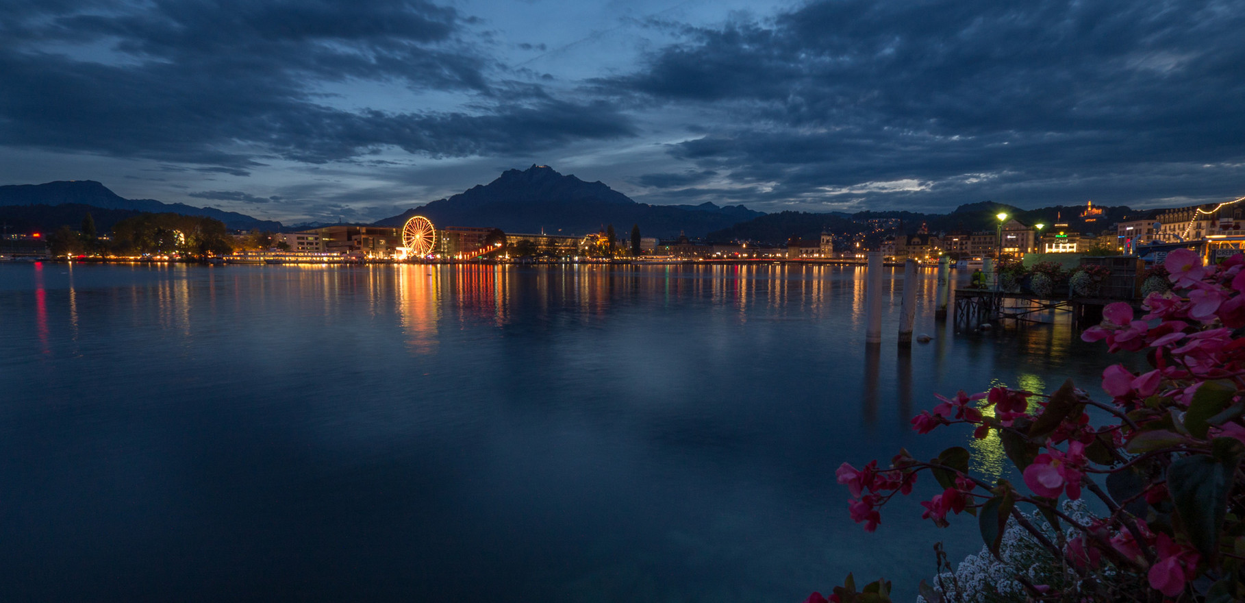 """Blue hour"" in Lucerne"