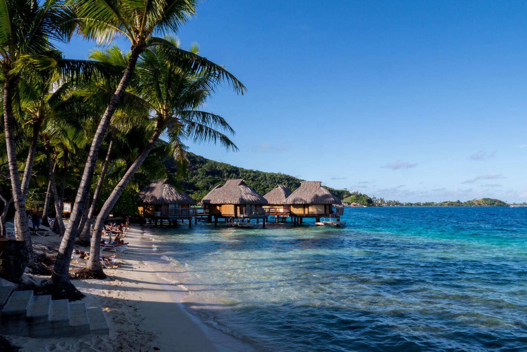 Typical bungalows at Bora Bora [French Polynesia, 2014]